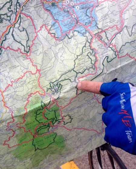 San Marino Cycling Experience Karte